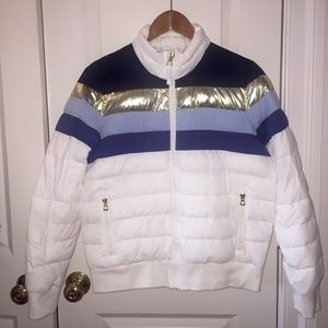 Gap White Metallic Ski Jacket